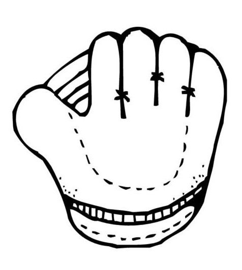 baseball glove coloring pages - photo#12