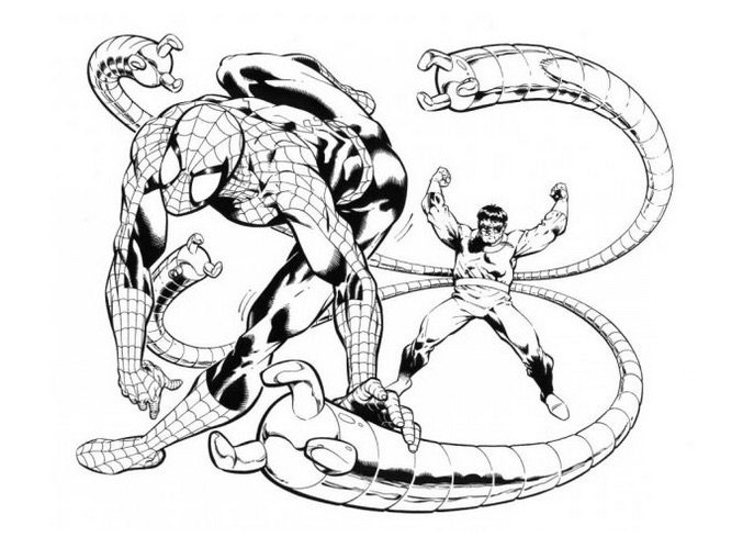 doctoroctopusspidermancoloringpage  Coloring Page Book