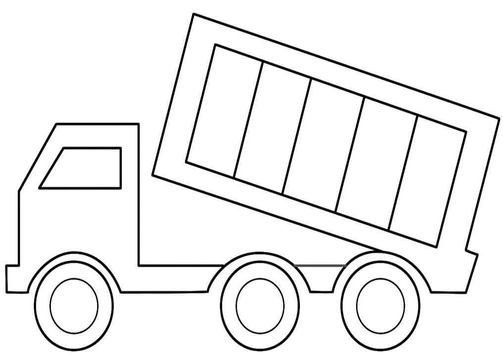 Printable dump-truck-coloring-page - Coloringpagebook.com