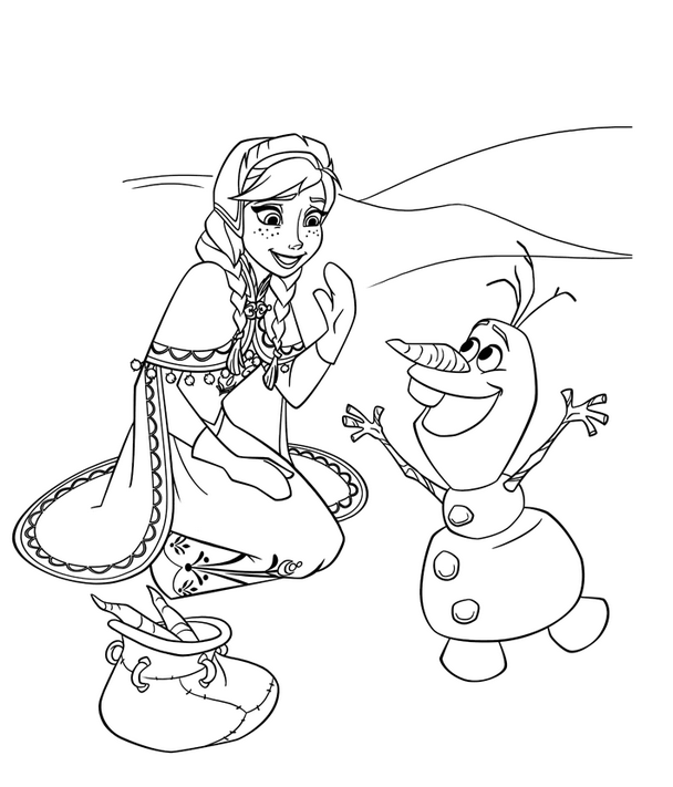 Olaf Coloring Pages  Free Coloring Sheets